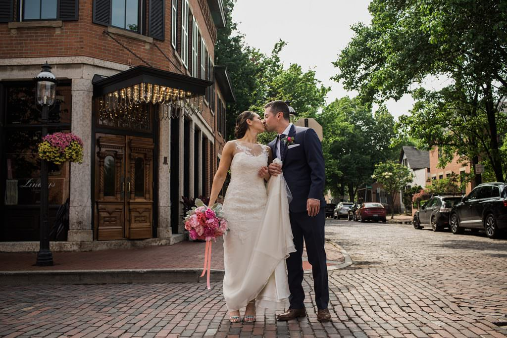 German Village Wedding Stylish Bride Groom Adam Lowe Photography Love