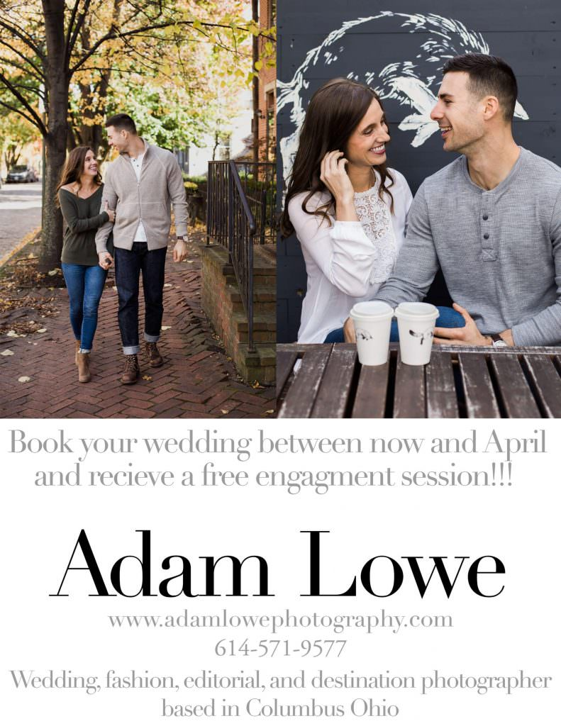 adam lowe photography, wedding, engagment, engagement session, columbus, ohio, love, photographer, stylish, modern