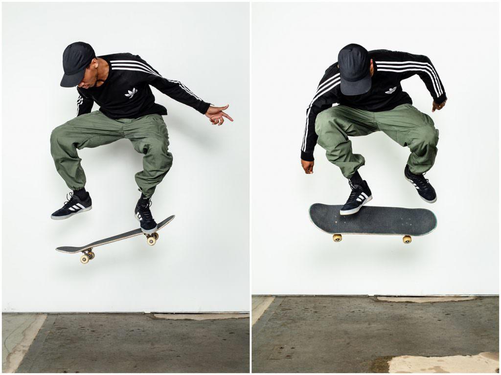 Adam Lowe Photography, skateboarding, skate, embassy, deangelo harris, street style, adidas, switch kickflip, kickflip, studio photography, commercial, editorial, lifestyle, columbus, ohio
