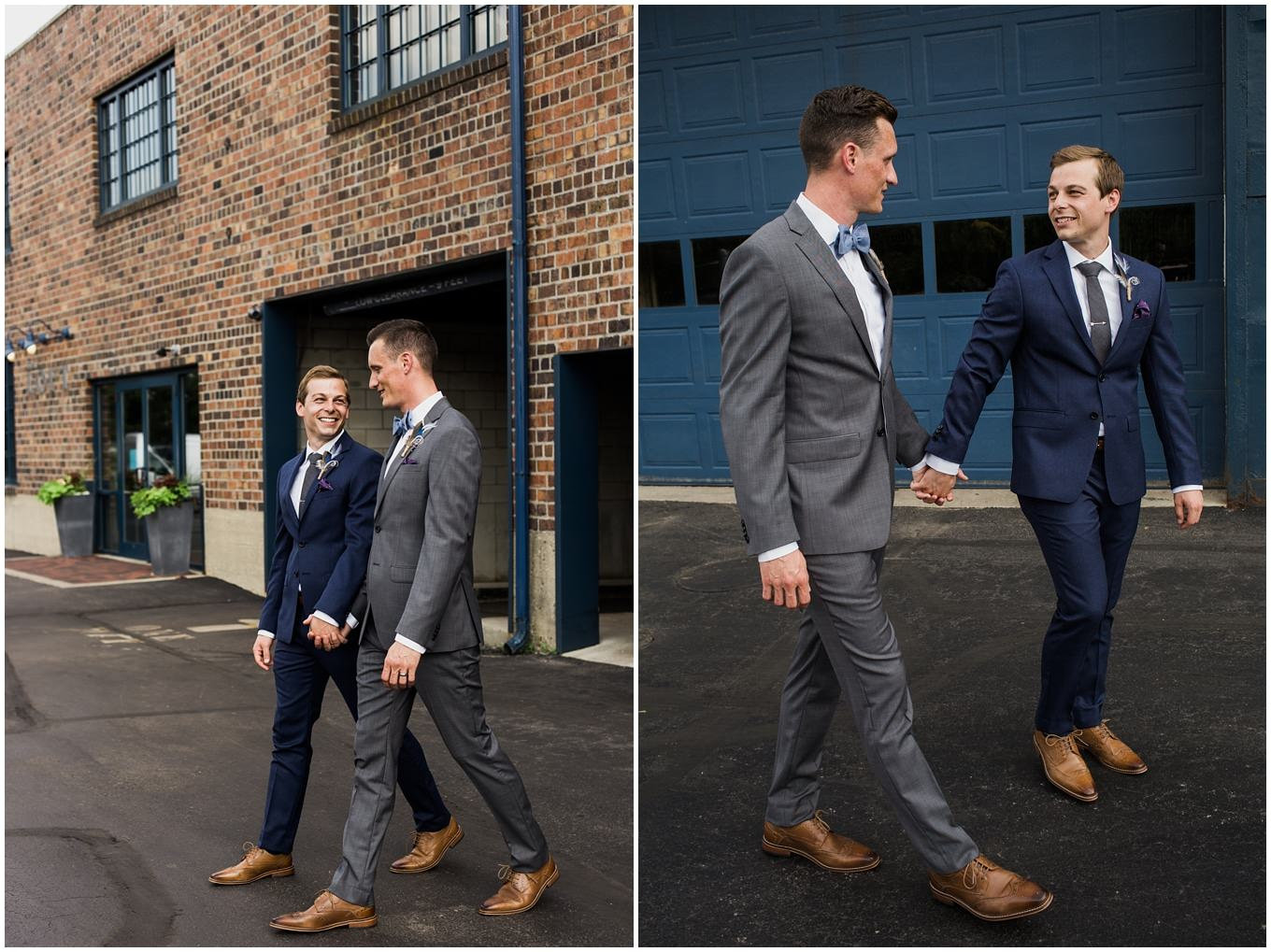 adam lowe photography, wedding, columbus, ohio, pride, gay, tom and terry, smith bros, dock 580, the loft, downtown, stylish, pursuit, ecoflora, groom and groom, grooms,